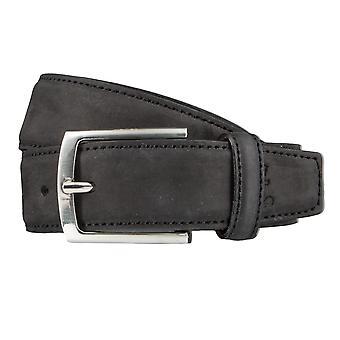 OTTO KERN belts men's belts leather belt black 3624