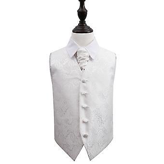 Ivory Paisley Wedding Waistcoat & Cravat Set for Boys