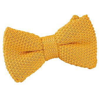 Goudsbloem geel gebreide vooraf gebonden strikje voor jongens