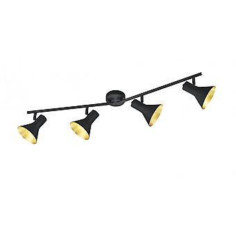 トリオ ニーナ古典的な黒い金属製のスポット照明