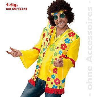 Flower power hippie shirt costume mens hippie shirt Mr costume