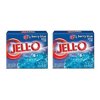 Jell-O Berry Blue Gelatin Dessert Mix 2 Box Pack