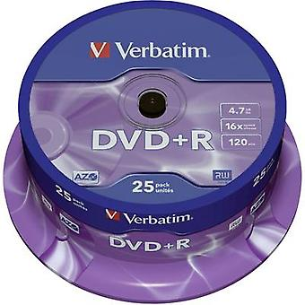 Blank DVD+R 4.7 GB Verbatim 43500 25 pc(s) Spindle