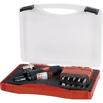 Pneumatic sander 1/4 (6.3 mm) 6.2 bar RUKO incl. accessories, incl. case