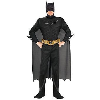 Batman Deluxe Muscle The Dark Knight DC Superhero Licensed Men Costume