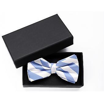 Fly wedding blue white striped bow tie loop Fabio Farini strips
