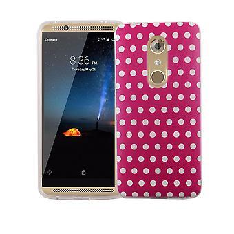 Handy Hülle für ZTE Axon 7 Mini Cover Case Schutz Tasche Motiv Slim Silikon TPU Polka Dot Pink