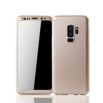 Samsung Galaxy S9 plus mobile shell Schutzcase full cover 360 display protection foil gold