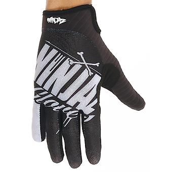 Ninjaz Black-White 2017 The Bones MTB Gloves