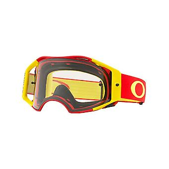 Oakley Red-Yellow-Clear Airbrake MX Goggle