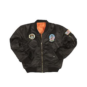 Mil-Tec Kids MA-1 Jacket with patches