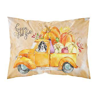 Fall Harvest Black Parti Cocker Spaniel Fabric Standard Pillowcase