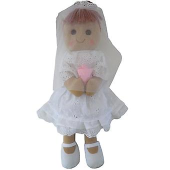 Powell Craft Childrens Fabric Rag Doll - Bride Design