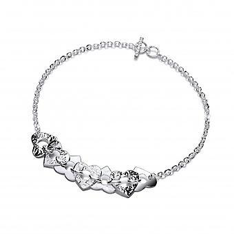 Collar de Corazon de plata francesa de Cavendish