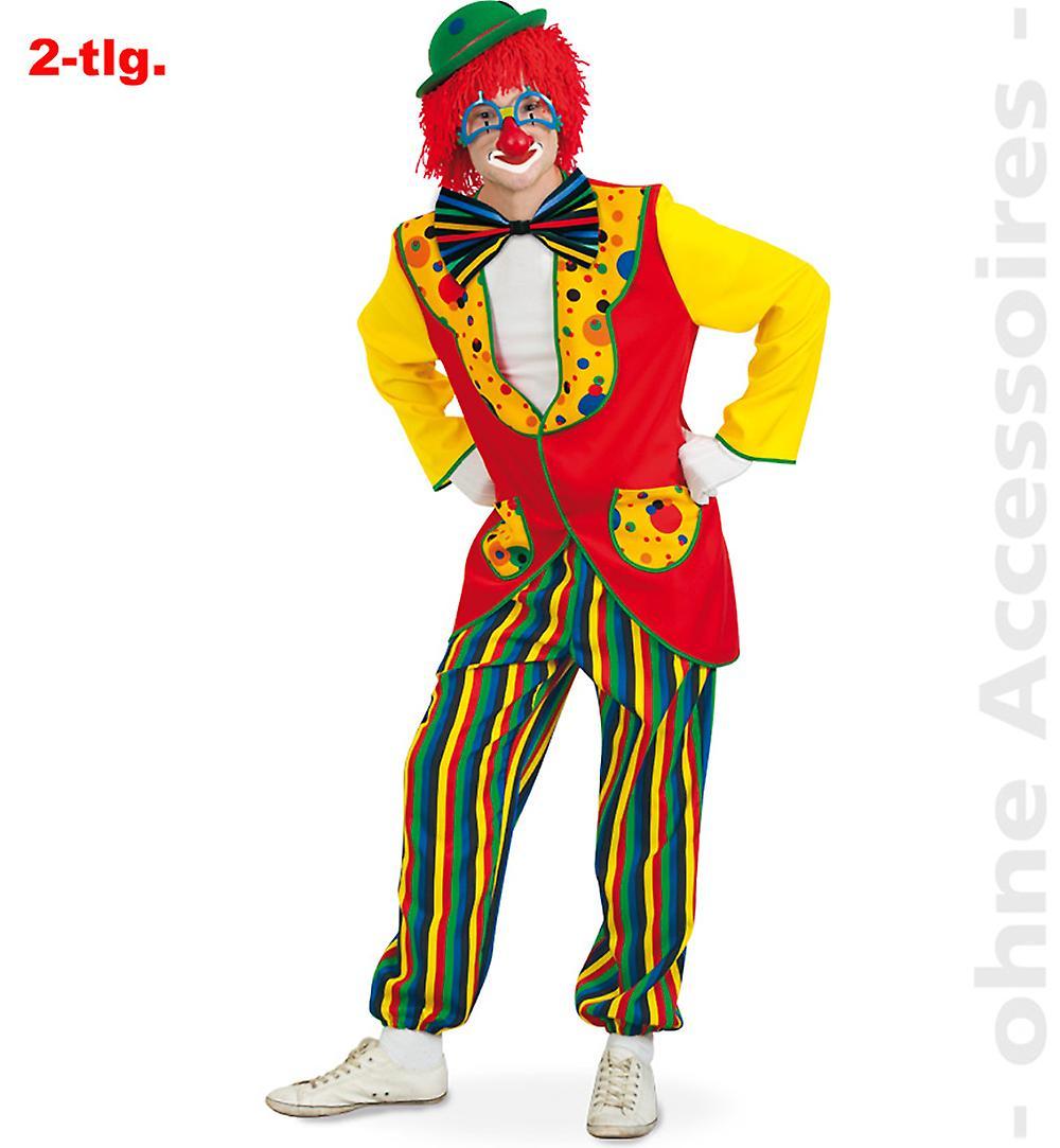 Anzug Clown Kostüm Herren Clownkostüm Harlekin Herrenkostüm