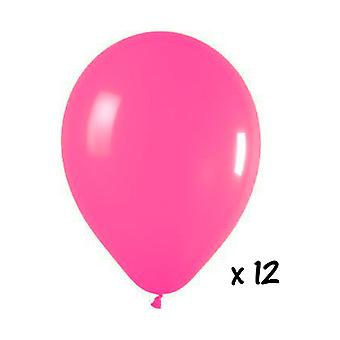 Ballon en de ballon accessoires 12 roze ballonnen