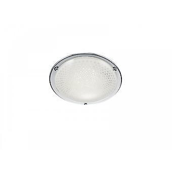 Trio Lighting Facette Modern Chrome Metal Ceiling Lamp