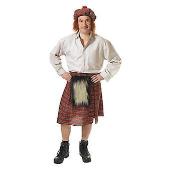 Schotten Kilt und Hut.