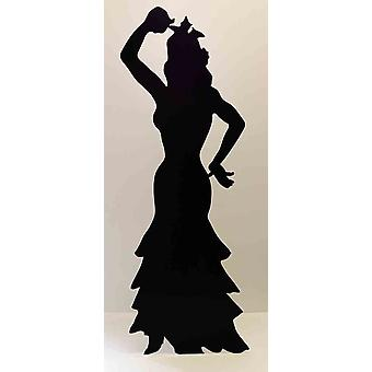 Flamencodanser (silhouet) (partij Prop) - Lifesize karton gestanst / Standee