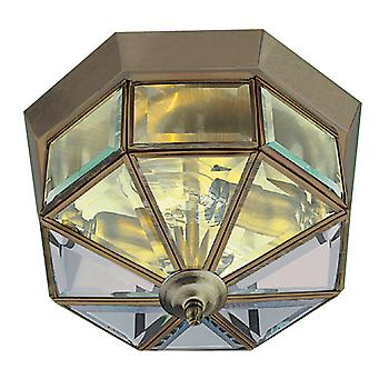 Searchlight 8235AB Traditional Flush fitting with Antique Brass Trim