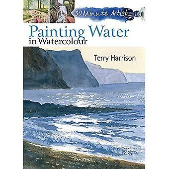 Agua de la pintura en acuarela (artista de 30 minutos)