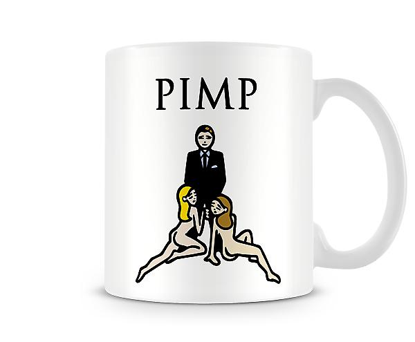 Decorative Writing PIMP Printed Text Mug