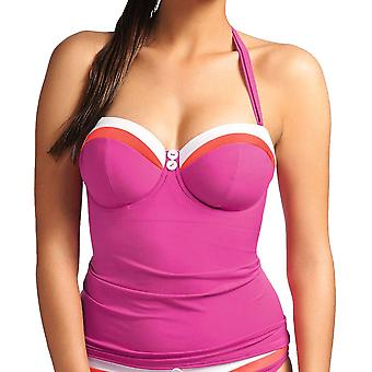 Freya Revival As3221 Wp Underwired, Padded Bandeau Tankini Top