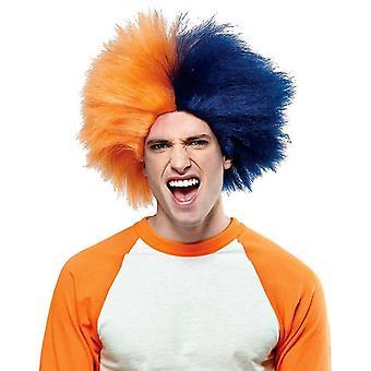 Peruka dla sport zabawa Navy Blue Orange