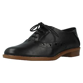 Ladies Clarks Shoes Taylor Skies Black Size UK 4D