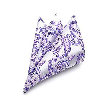 Lavender purple & dark purple paisley pocket square