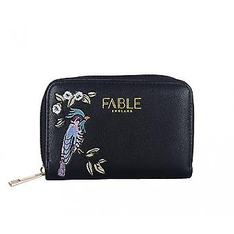 Fable Womens/Ladies Bird Embroidered Small Purse