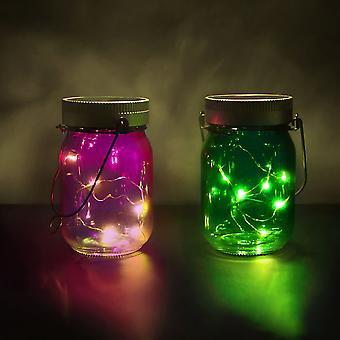 Solar Powered Fairy Light Jars