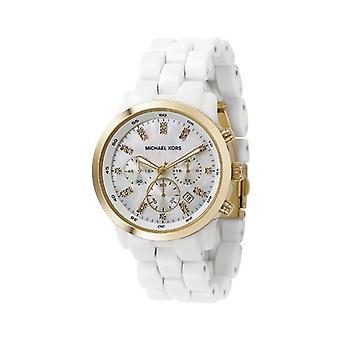 Michael Kors Ladies keramiske silikon chronograph klokke Mk5218