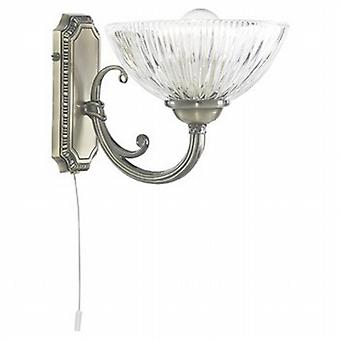 Searchlight 4771-1AB Windsor II Wall Light in Antique Brass