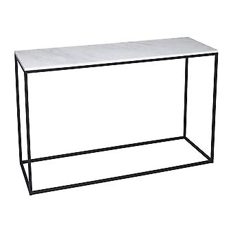 Gillmore Space White Marble And Black Metal Contemporary Console Table