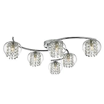 Elma 6lt Semi Flush Chrome poli - Cristal