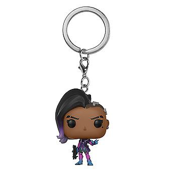 Overwatch Sombra Pocket Pop! Keychain