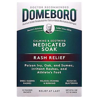 Domeboro astringent solution powder packets, 12 ea
