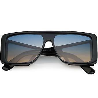 Large  Futuristic Styling Side Window Lens Shield Sunglasses