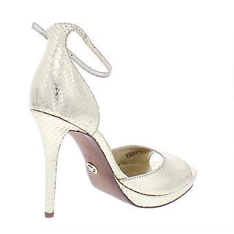 Michael Kors Womens Patti Platform Leather Peep Toe Casual Ankle Strap Sandals