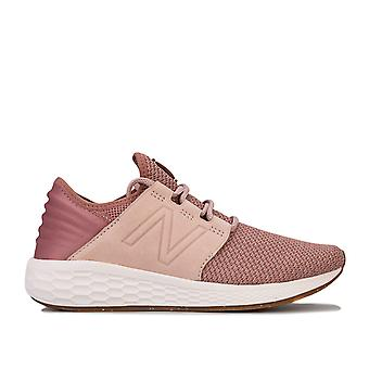 Womens New Balance Fresh Foam Cruz V2 Running Shoes Standard Fit In Conch Shell