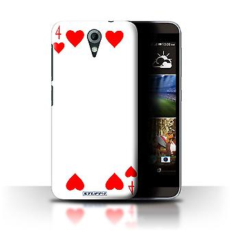 STUFF4 Case/Cover for HTC Desire 820 Mini/4 of Hearts/Playing Cards