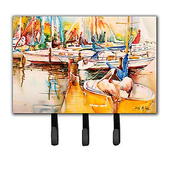 Sailboat  with Pelican Golden Days Leash or Key Holder JMK1042TH68