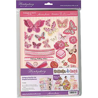Hunkydory pour son Collage-cartes en forme A4 carte Collection-fait 24 HER101