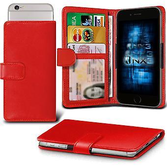 ONX3 (rouge) BlackBerry DTEK50 / BlackBerry Neon Case Etui Premium PU cuir Universal Spring Clamp portefeuille avec appareil photo Slide, porte-cartes de la fente et poche billets