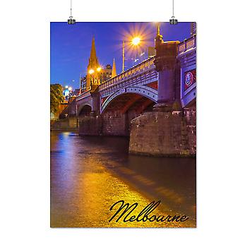 Matte or Glossy Poster with Bridge Art Melbourne Melbourne | Wellcoda | *q1377