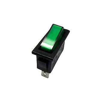 Toggle switch 250 Vac 10 A 1 x Off/On SCI R13-70B-01 GREEN (250V/AC 150KR) latch 1 pc(s)