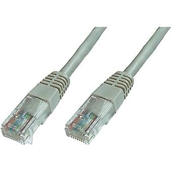 RJ49 Networks Cable CAT 6 U/UTP 10 m Grey incl. detent Digitus Professional