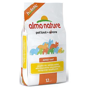Almo Nature holistisk kat Adult hvid fisk & ris 12kg