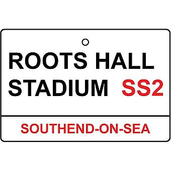 Southend / Roots Hall Stadium Street Sign Car Air Freshener